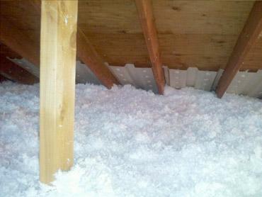 proper levels of insulation blown into home attic