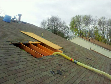 roof access for home insulation project